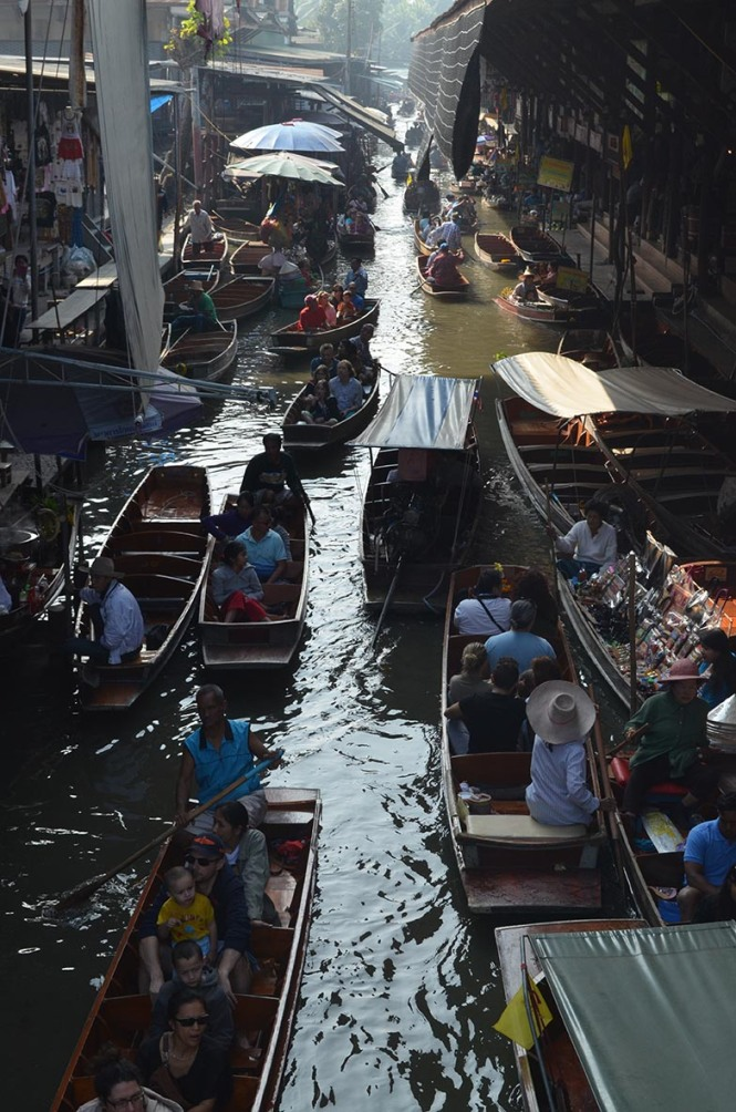 Photo of the floating markets outside Bangkok, Thailand